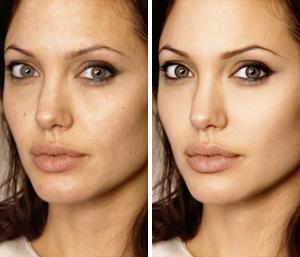 Aнджелина Джоли: до и после фотошопа