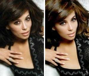 Ева Лонгория: до и после фотошопа