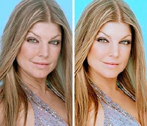 Ферги: до и после фотошопа