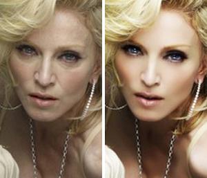 Мадонна: до и после фотошопа