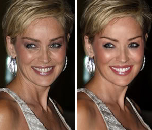 Шэрон Стоун: до и после фотошопа