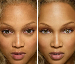 Тайра Бенкс: до и после фотошопа