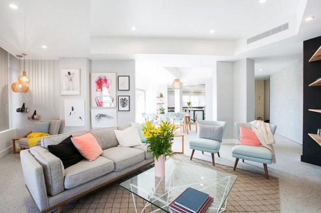 дизайн гостиной 2019 года